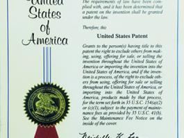 发明专利证书-美国